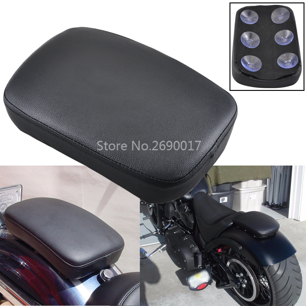 Motorcycle Rear Passenger Cushion 8 Suction Cups Pillion Pad Suction Seat For Harley Dyna Sportster Softail Touring XL 883 1200