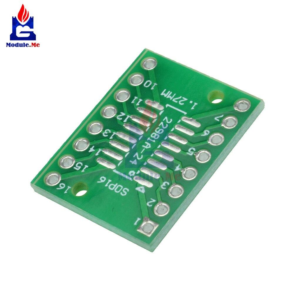 10 pz SOP16 SSOP16 TSSOP16 Per DIP16 0.65/1.27mm IC Adattatore Kit Fai Da Te Elettronico PCB Board Modulo10 pz SOP16 SSOP16 TSSOP16 Per DIP16 0.65/1.27mm IC Adattatore Kit Fai Da Te Elettronico PCB Board Modulo