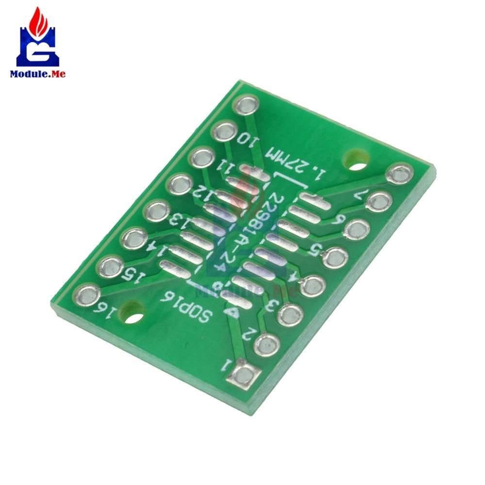 10pcs SOP16 SSOP16 TSSOP16 To DIP16 0.65/1.27mm IC Adapter Diy Kit Electronic PCB Board Module