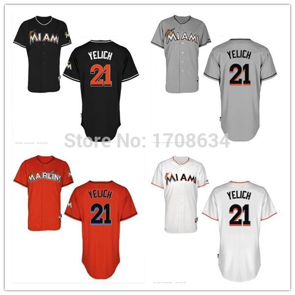 low priced 48a38 cd047 New Arrival 21 Christian Yelich jersey home orange Baseball ...