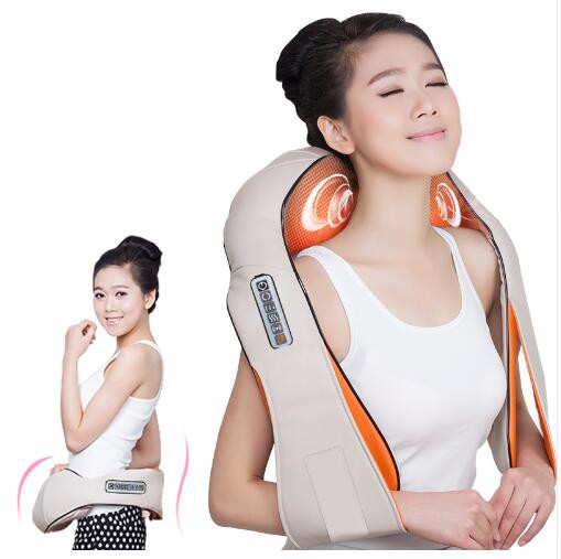 Top Grade Home Car Electrical Body Massager Vibrating+Kneading Massage U Shape Neck Back Shoulder Shiatsu Infrared 3D Massager