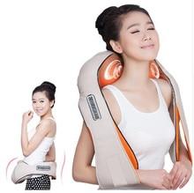 Top Grade Home Car Electrical Body Massager Vibrating+Kneading Massage U Shape Neck Back Shoulder Shiatsu Infrared 3D Massager все цены