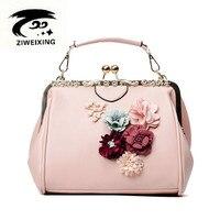 2017 Women Bags Flower Pearl Messenger Bag Luxury Handbags Women Bags Designer Ladies PU Leather Hand