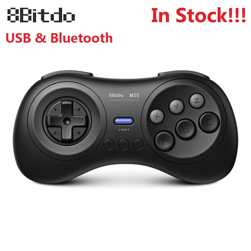 8 M30 8bitdo Wireless Controller Gamepad Bluetooth para Sega Genesis Mega Drive Estilo para Nintendo Interruptor PC MAC Jogos de Vapor