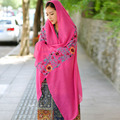 pure Cotton linen scarf women blanket Shawl Embroidery Wraps luxury long soft Muslim Hijab Neck Warm ethnic japanese Bandana h03