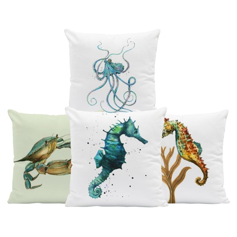 "Throw Pillow Palm Tree Nautical Beach Bedding Home Sofa Decor Gift 18/"" NEW"