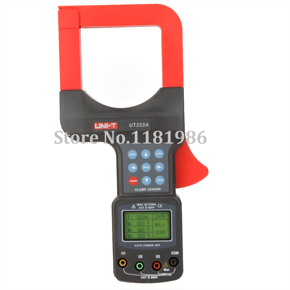UNI-T UT253A 1200A Auto Range Large Jaws Leakage Current Clamp Meters Leaker Voltmeter Meter w/RS232