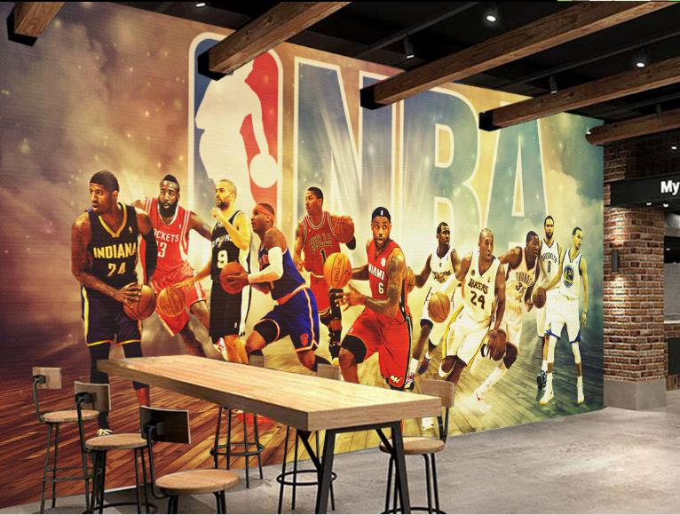 Customize 3D Photo Wallpaper Basketball star Wallpapers For Living room 3D Living Room TV Backdrop Bedroom Papel De Parede 3D large photo wallpaper bridge over sea blue sky 3d room modern wall paper for walls 3d livingroom mural rolls papel de parede