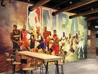 Customize 3D Photo Wallpaper Basketball star Wallpapers For Living room 3D Living Room TV Backdrop Bedroom Papel De Parede 3D