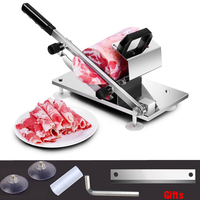 Commercial Household Manual Meat Slicer Lamb Beef Meatloaf Frozen Meat Cutting Machine Vegetable Mutton Rolls Hand Mincer Cutter
