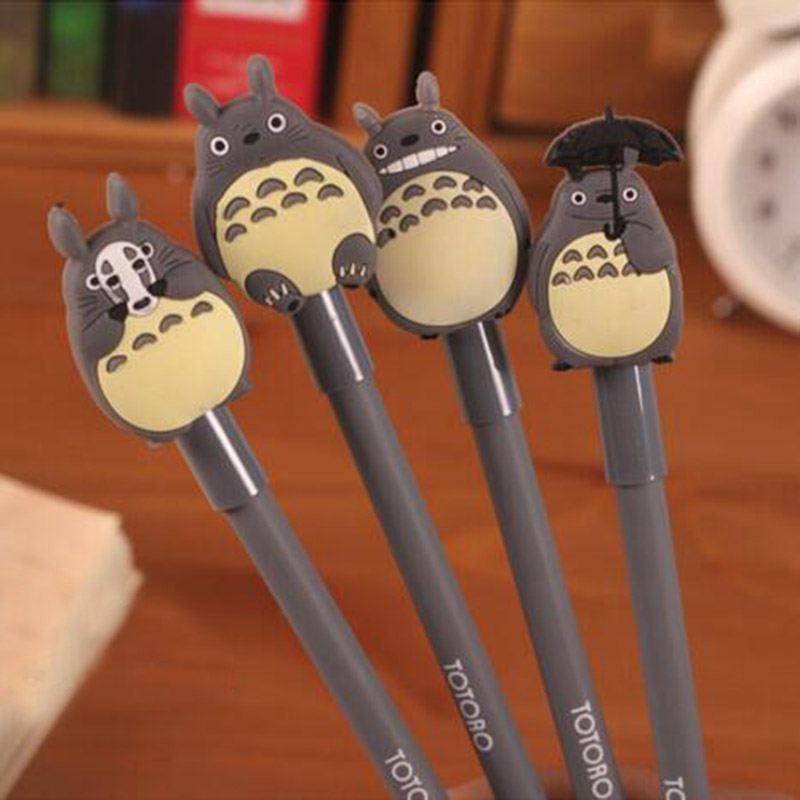 New 0.38mm Kawaii Cartoon Totoro Gel pens Cute Creative Stationery For Students School Supplies Free Shipping 539