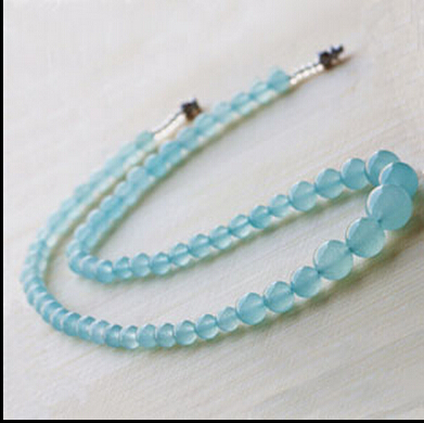 XUEYUN Natural Crystal Blue Chalcedony Bead Necklace - How to create a commercial invoice online bead stores