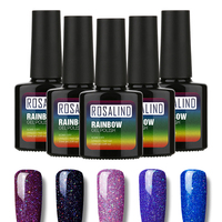 ROSALIND Beautiful Neon Rainbow Nails 10ML UV Nail Gel Polish Professional Long-lasting Nail Gel Varnish for Nail Art Design