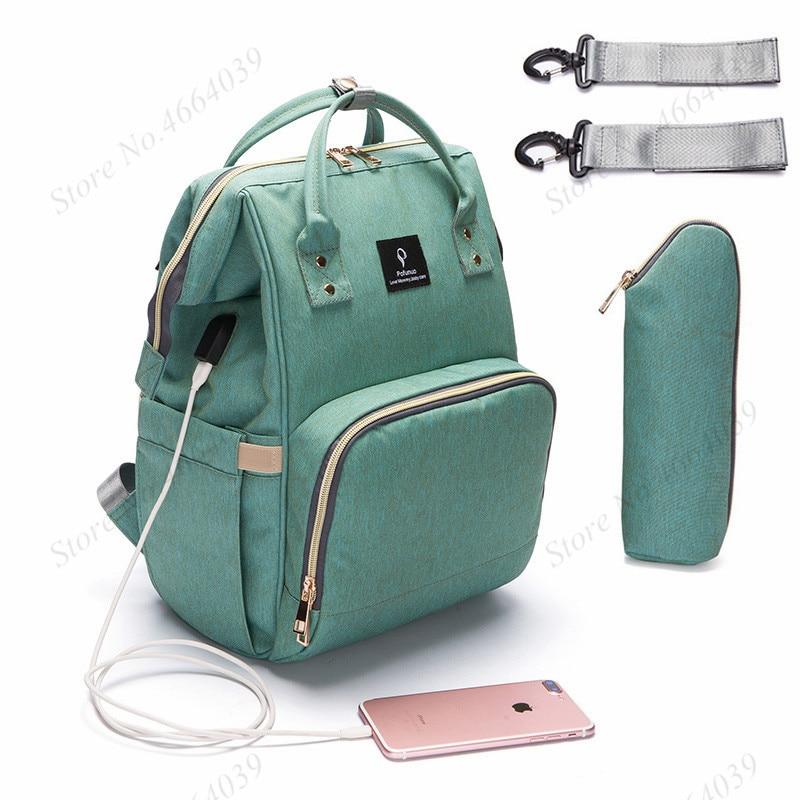 Sac à couches pour bébé avec Interface USB Kits de sac à langer de grande capacité sac à dos de voyage de maternité momie sac à main d'allaitement pour les soins de bébé