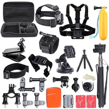 JACQUELINE for Outdoor Essential Action Camera Kit for Gopro hero HD 5 4/3/2/1 SJCAM SJ4000 SJ5000 SJ6000 H9R H9 H9SE SOOCOO