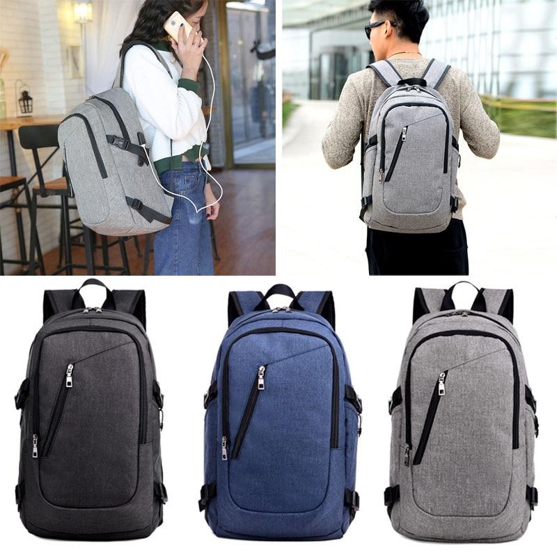 Multifunction USB Charging Laptop Backpacks Teenager Casual Travel Backpack Anti Thief Rucksack WML99