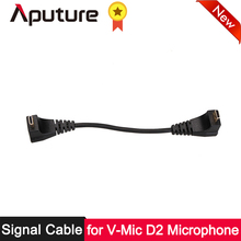лучшая цена Aputure Signal Cable for Aputure Shotgun Microphone V-Mic D2 for Canon Nikon Sony Camera Video Mic Video Microphone Accessories