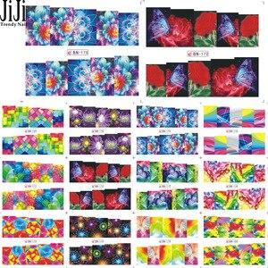 Image 5 - Bộ 60 Hỗn Hợp Móng Thiết Kế Nghệ Thuật Chuyển Nước Bộ Hình Dán Hoa Gợi Cảm Nữ Đeo Móng Đề Can Nước Trang Trí JIBN121 180