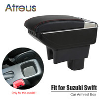 For Suzuki Swift 2005 2017 armrest box USB Charging interface heighten central Store content box cup holder ashtray Accessories