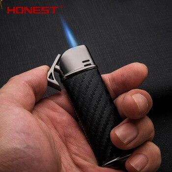 Dermis газовая зажигалка с защитой от ветра Бутановая металлическая прямая Зажигалка креативная бензиновая Зажигалка гаджеты для мужчин прик... >> Funny Lighter Store