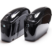 Pair of Motorcycle Hard Saddlebags Side Case with Blinker for Harley Universal