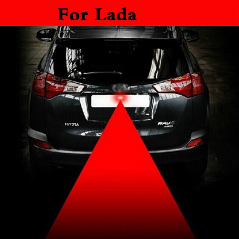 Car Laser Warning Rear Anti Collision Fog Safety Tail Light Red For Lada 1111 Oka 2105 2106 2107 2109 2110 2112 <font><b>2113</b></font> 2114 2115 image
