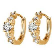 New Fashion Charm Woman Crystal Stud Earrings Jewelry Plum Blossom For Women Boucle Doreille Femme 2019