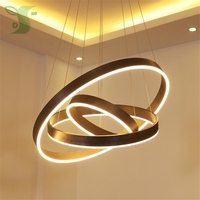 Nordic Style LED Chandelier 18 78W 1 3 Rings AC85 265V Dimmable Hanglamp With Remote Control