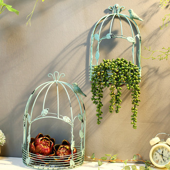 The Iron Wall Rack Flower Stand Metal Wall Decoration Flower Holder
