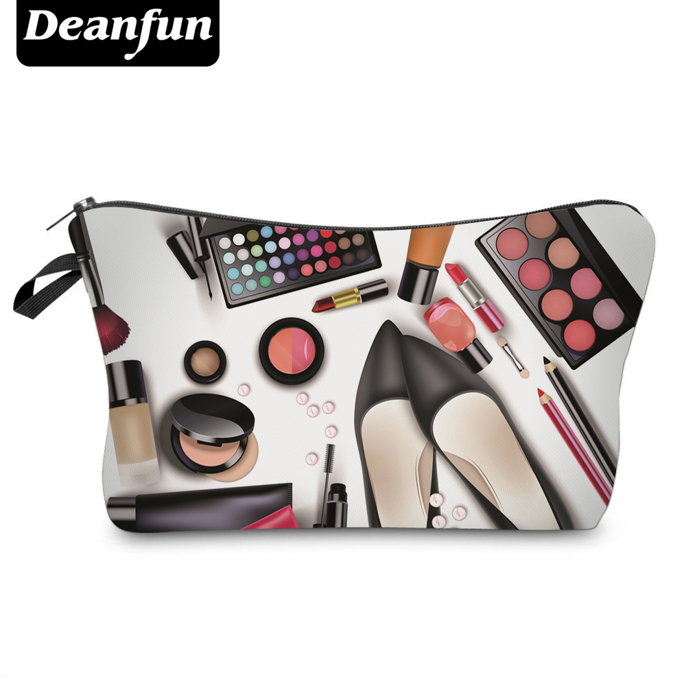 Deanfun 3D Printing Cosmetic Bags 2017 Zipper Polyester Storage Travel Organizer Necessary For Women Makeup Fashion 50757 deanfun travel cosmetic bag 2016 hot selling women brand small makeup case 3d printing christmas gift water pig h46
