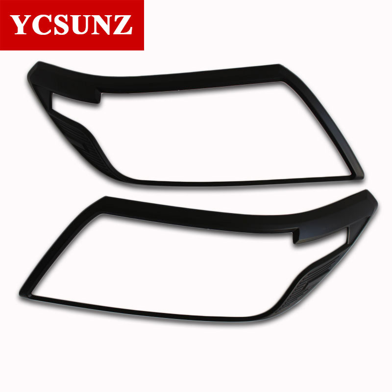 2015 2018 headlights cover For Nissan Navara 2017 Np300 Accessories car styling For Nissan frontier 2016 Car Styling Part YCSUNZ-in Lamp Hoods from Automobiles & Motorcycles    1