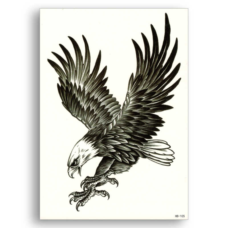 Eagle Fake tattoo Water Transfer Waterproof Temporary Sticker Flower Arm Women Men sexy Beauty Body Art Cool Stuff Cheap fine