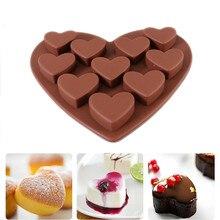 ZMHEGW Высокое качество Любовь Сердце фигурные силиконовые формы помадка торт кухонная формочка для шоколада Molds15cmX16cm каждое сердце 3x1,5 cm#1975