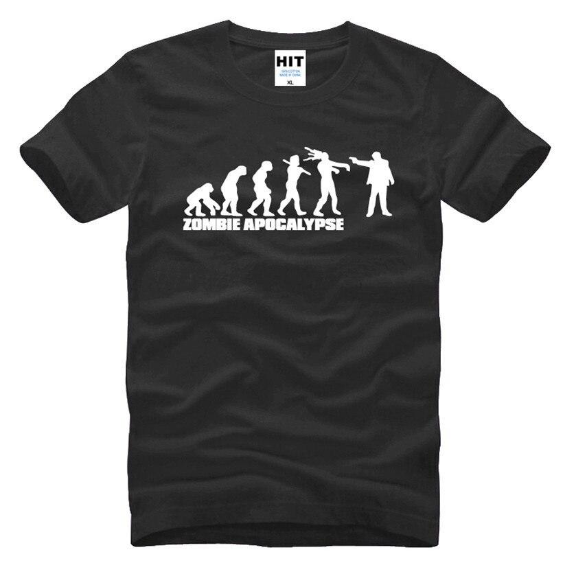49e2f77eb49133 Zombie Apocalypse Stampato Mens T Shirt Uomo Tshirt 2016 Nuovo Manica Corta  O Collo Casual T-Shirt Tee Camisetas Hombre