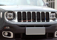 Chrome Front Grille Centre Grill Assembly WI frames for Jeep Renegade 2015 2016