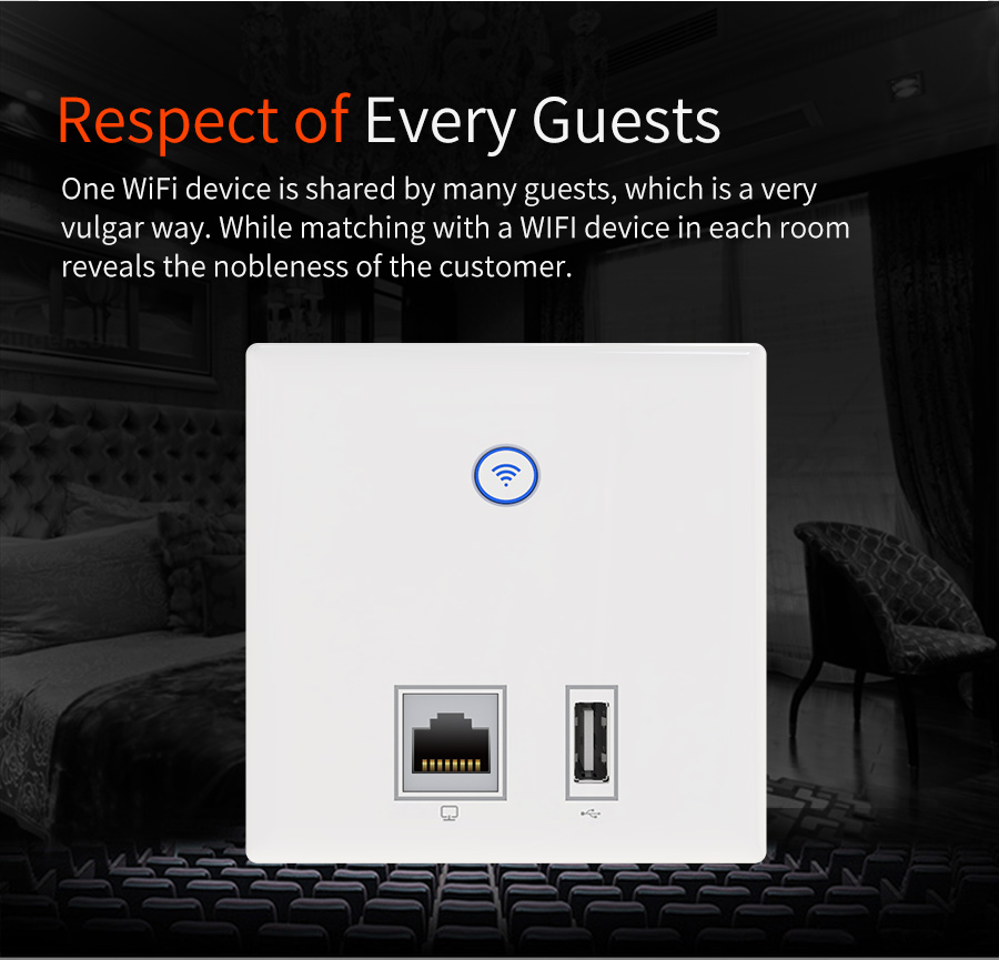 COMFAST wireless in-wall ap 300mbps access point wifi 48V poe power supply hotel use AP with usb power port dual 3dBi CF-E536N цены онлайн