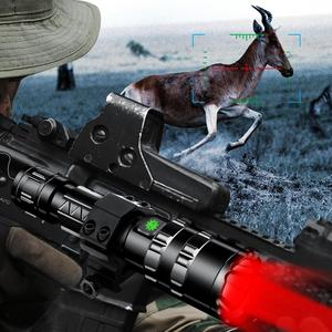 Image 2 - Hunting L2 USB Rechargeable Tactical Flashlight Red/Green/White LED Hunting Light Scout Ultra Bright Waterproof Torch by 1x18650