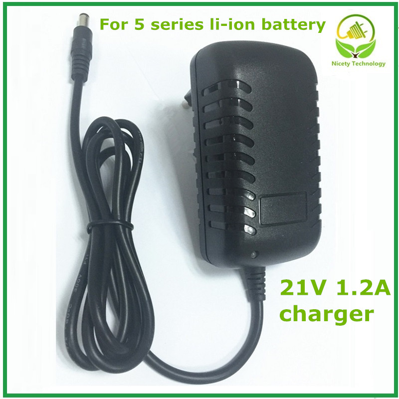 21v1.2a lithium battery charger for 5 Series battery charger for lithium battery with LED light shows charge state good quality 2016 new rushed standard battery quality lithium battery 10 8v three string combination