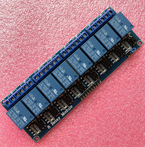 Free shipping With optocoupler 8 channel 8 channel relay module relay control panel PLC relay 5V