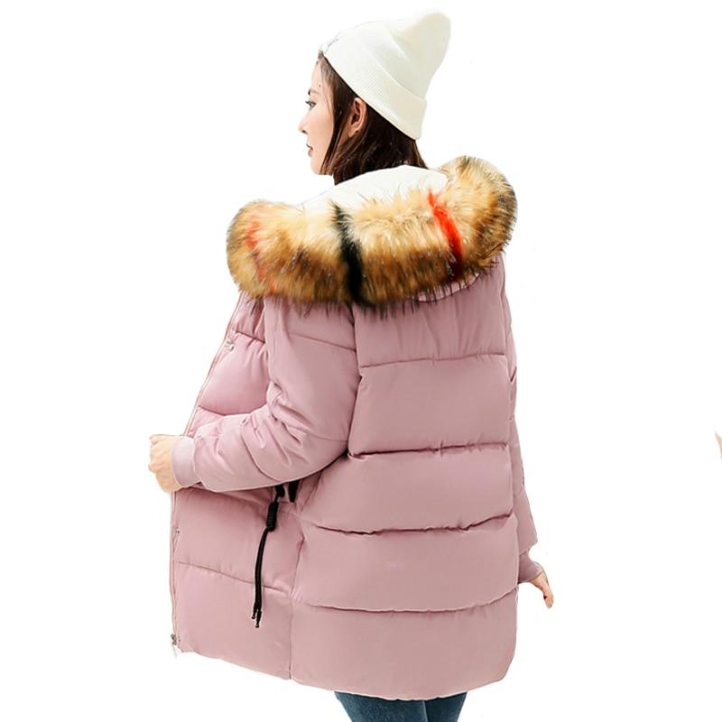 Mit Bunte Fell Outwear Jacke Frauen Winter Warm Verdicken 2019 Neue Ankunft Weiblichen Mantel Lange Parka Hohe Qualität Camperas Mujer Hochglanzpoliert Parkas