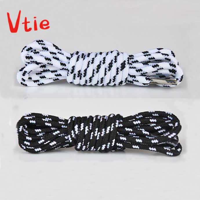 100 cm/39 ''niños negro y blanco zapatos redondos cordones cordón para Botas de senderismo deporte correr zapatos