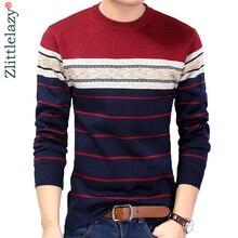 Модная повседневная одежда, футболки в полоску для фитнеса, бодибилдинга, Мужская футболка, трикотажная футболка, пуловер, свитер, camisa