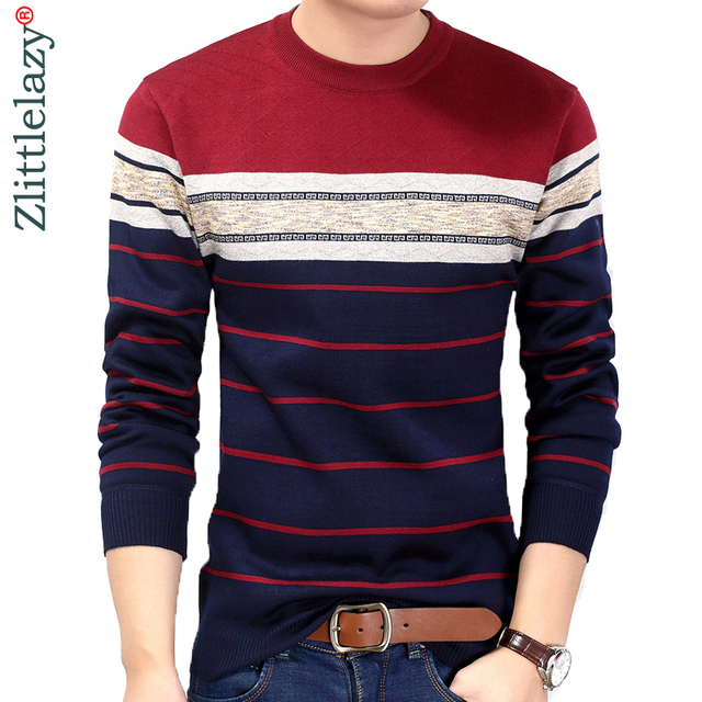 New fashion casual social fitness bodybuilding striped T-Shirts