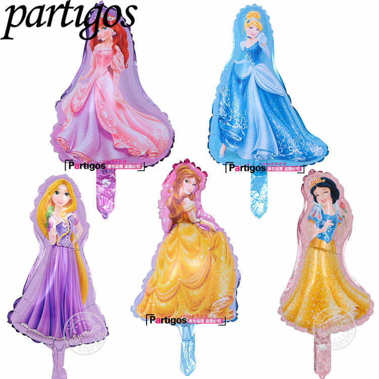 10pcs/lot Mini cute Princess Balloon Baby shower Birthday Party Decoration globos kids toys Globos girl brithday supplies