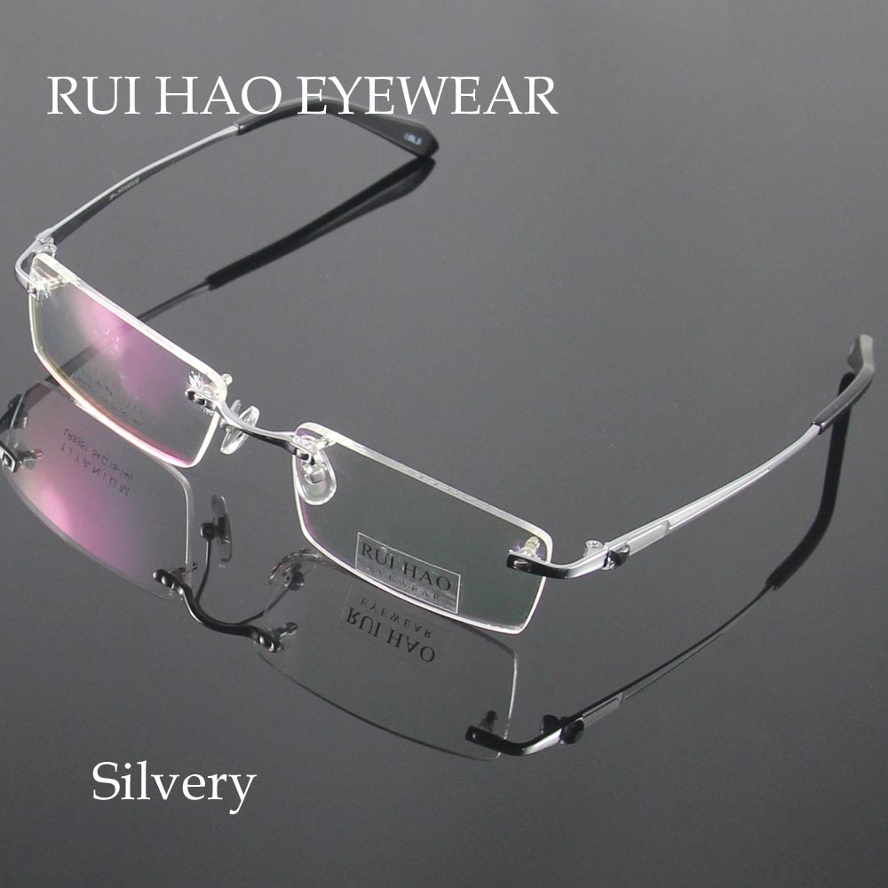 Unisex Brillen Männer Randlose Brille Rahmen Titan Brillenge ...