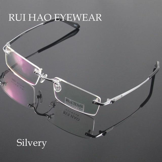 e14d8b2e Unisex anteojos hombres gafas sin montura marco titanium marcos de anteojos  ópticos gafas eyewear frames oculos de grau en Marcos Eyewear de Ropa y ...
