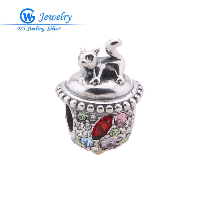 squirrel christmas charms crystal sterling silver jewelry accessories diy pendants for jewelry making GW Fine Jewelry X314H10