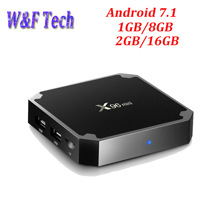 X96 mini Android 7.1.2 TV BOX 1 gb 8 gb/2 gb 16 gb Amlogic S905W Quad Core Supporto h.265 4 k 2.4 ghz WiFi X96mini Smart Media Player