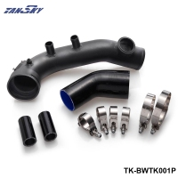 Black IntakeTurbo Charge Pipe Cooling Kit For BMW N54 E88 E90 E92 135i 335i TK BWTK001P