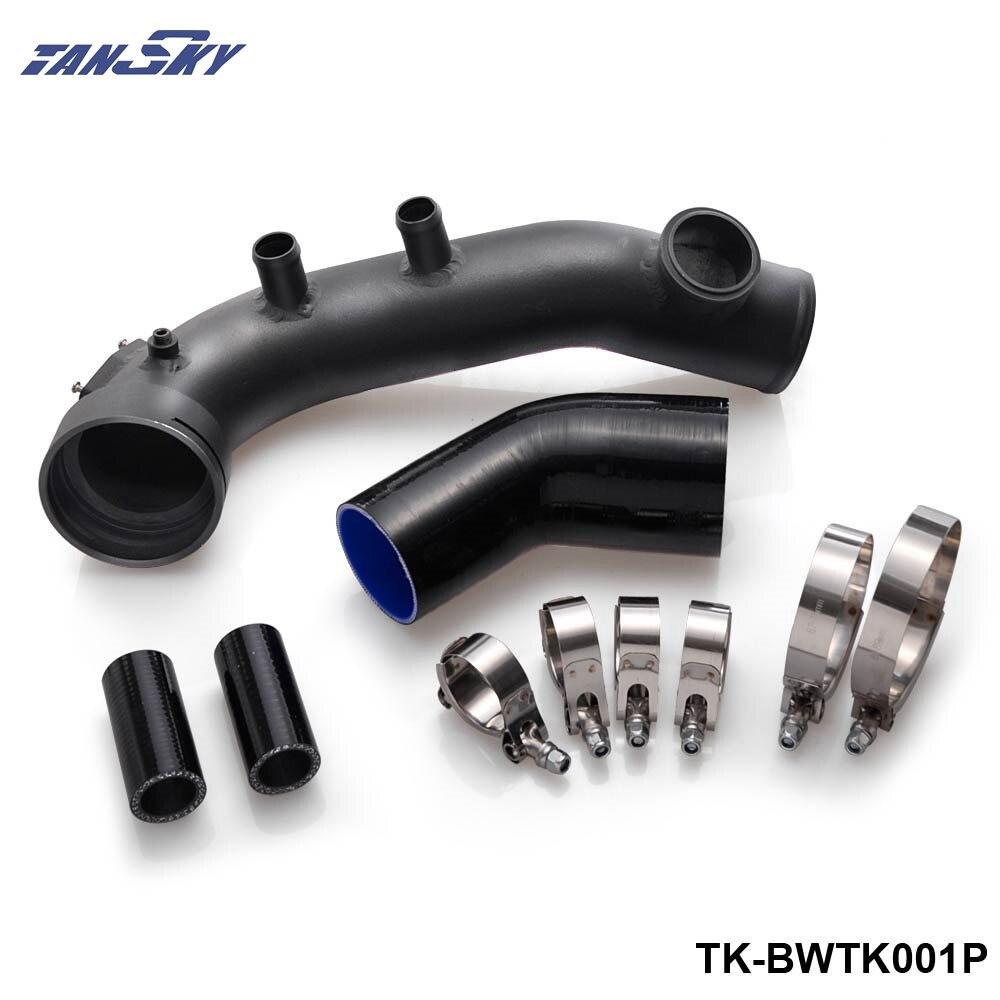 Kit de refroidissement de tuyau de Charge IntakeTurbo noir pour BMW N54 E88 E90 E92 135i 335i TK-BWTK001P
